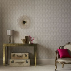 Ritzy Cream & Gold Wallpaper