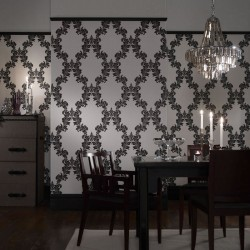 Regency Black & White Wallpaper