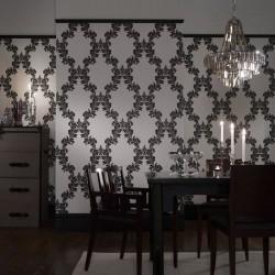Regency Black & White Wallpaper