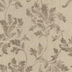 Acanthus Floral Beige Wallpaper