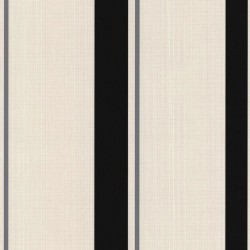 Barley Stripe Black & Grey Wallpaper