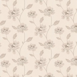 Peony White & Cream Wallpaper