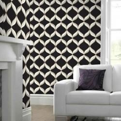 Mika Graphite & Cream Wallpaper