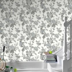 Kensington White Wallpaper