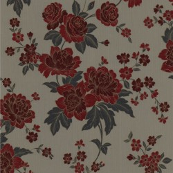 Kensington Red & Beige Wallpaper