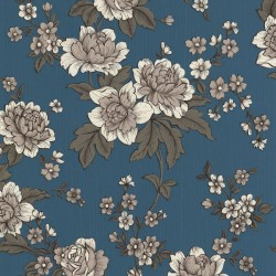 Kensington Light Blue & White Wallpaper