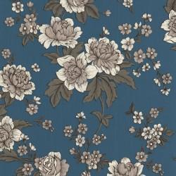Kensington Light Blue & White Wallpaper