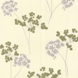Milly White Green Wallpaper