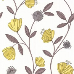 Capri Yellow & Cream Wallpaper
