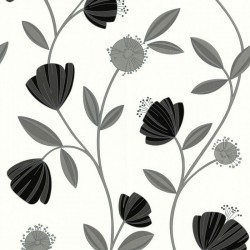 Capri Grey & White Wallpaper