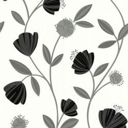Capri Grey & White Wallpaper