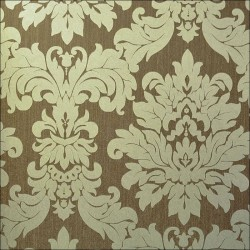 Versalles Gold Chocolate Wallpaper