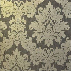 Versalles Gold Pewter Wallpaper