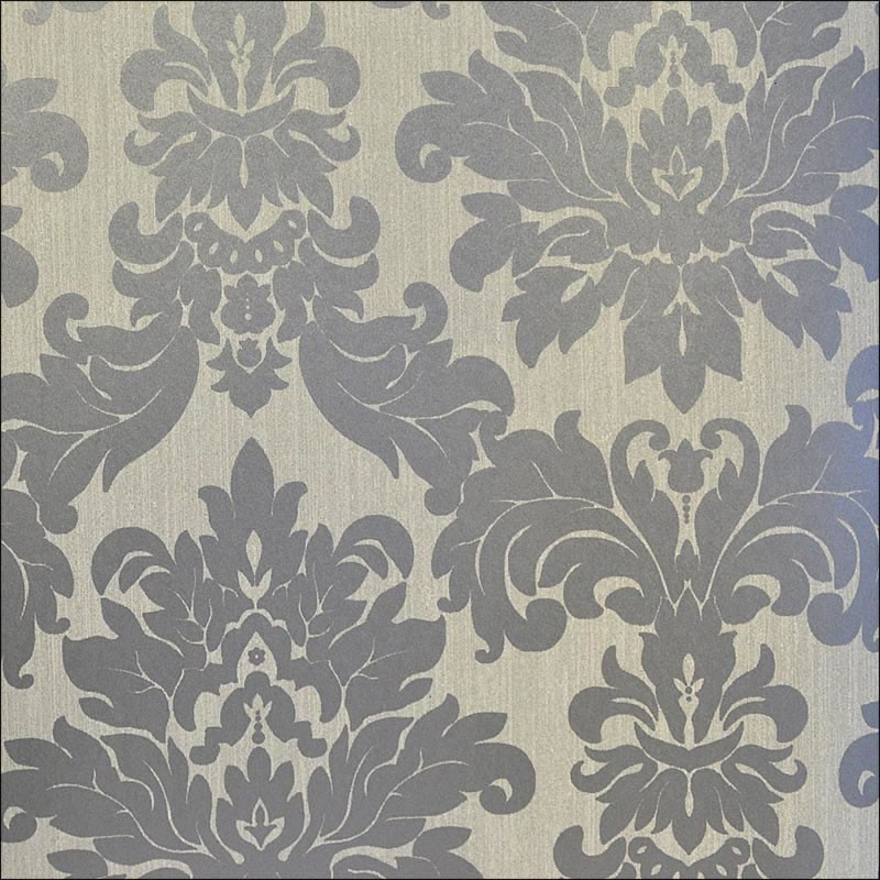 Versalles silver taupe grey damask 20108 for Grey and cream wallpaper