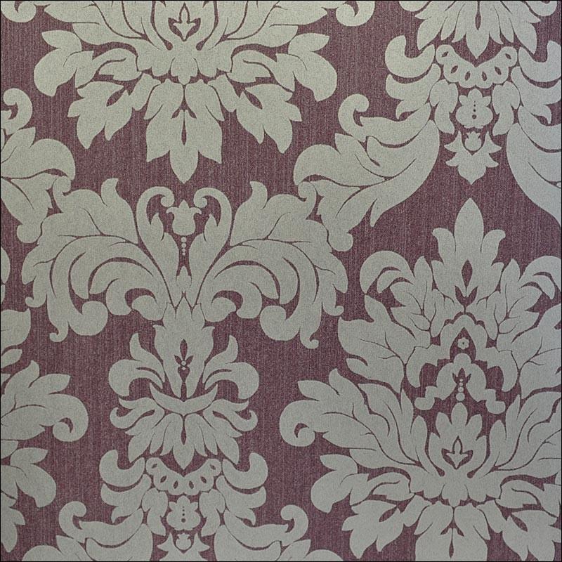versalles silver purple wallpaper - Contemporary Damask Wallpaper