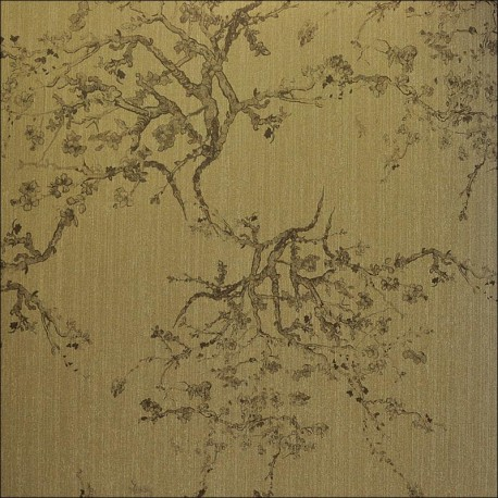 Kyoto golden bronze 20402 for Oriental style wallpaper uk