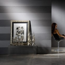Palatino Silver Grey Striped Wallpaper