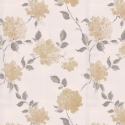 Amelia Yellow & Cream Wallpaper