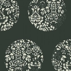 Cerclé Cream on Black Wallpaper