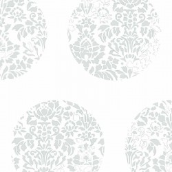 Cerclé Grey on White Wallpaper
