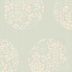 Cerclé Cream on Pale Green Wallpaper