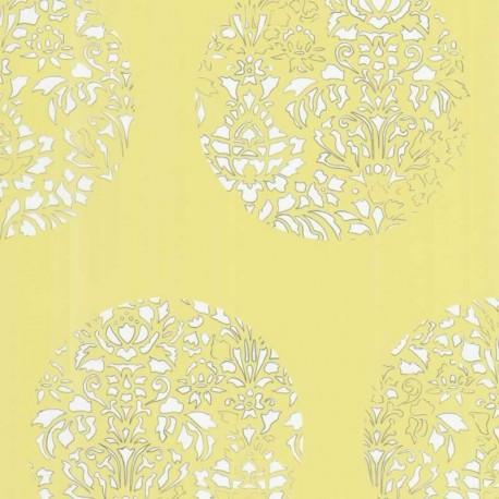cerclé yellow wallpaper, yellow wallpaper, tres tintas wallpaper