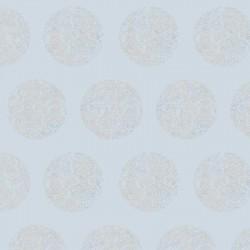 Cerclé Beige on Pale Blue Wallpaper