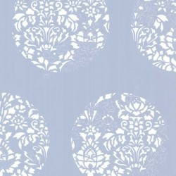 Cerclé White on Blue Wallpaper