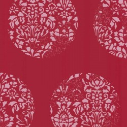 Cerclé Pink on Red Wallpaper