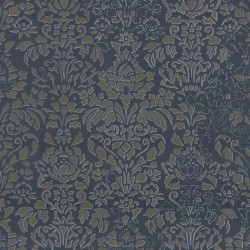 Comblé Gold on Charcoal Black Wallpaper