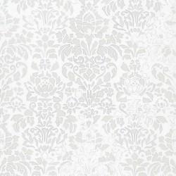 Comblé Grey on White Wallpaper