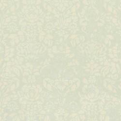 Comblé Cream on Pale Green Wallpaper