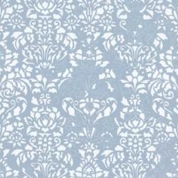 Comblé White on Blue Wallpaper