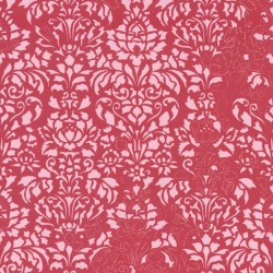Comblé Pink on Red Wallpaper