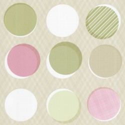 Button Multi-Colour Green Wallpaper