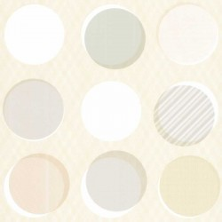 Button Multi-Colour Cream Spot