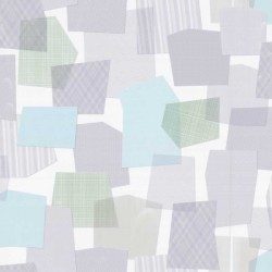 Collage Multi-Colour Lilac Wallpaper