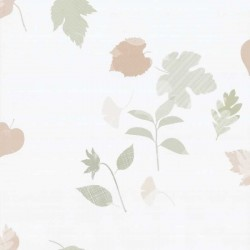 Rain Leaves Multi-Colour Olive Green Wallpaper