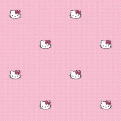 Hello Kitty Polka Dots Pink Wallpaper