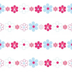 Minnie Bows & Daisies Pink Wallpaper