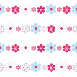 Minnie Bows & Daisies Pink Wallpaper