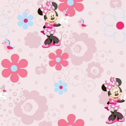 Minnie'S Spring Walk Pink Wallpaper
