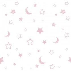 Pooh Goodnight Vintage Pink Wallpaper