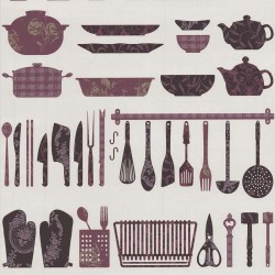 Making A Crockery Purple Wallpaper