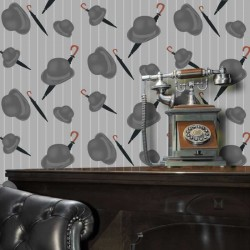 Bowler Light Grey Wallpaper