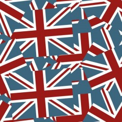 Jack Flag Red, White & Blue Wallpaper