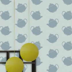 Teapot Crazy Blue Wallpaper