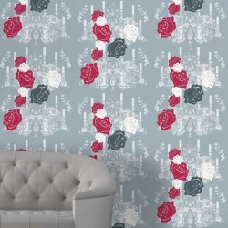 Rosey Glow Red Wallpaper