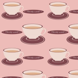 Tea Time Pink Wallpaper