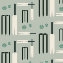 Cricket Minty-Green Wallpaper